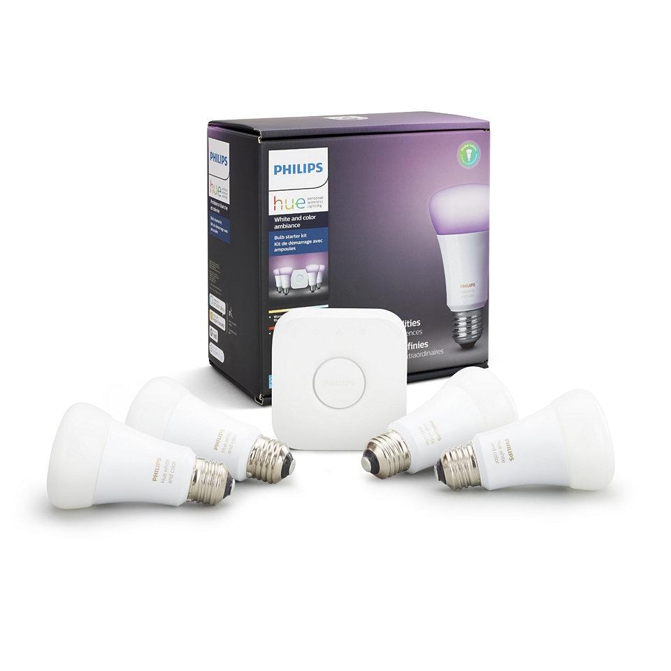 Hue White y color ambiental Kit de inicio E26