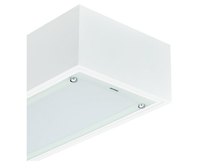Cleanroom LED CR150B luminaire, module size 600x600 mm, with surface-mounting box