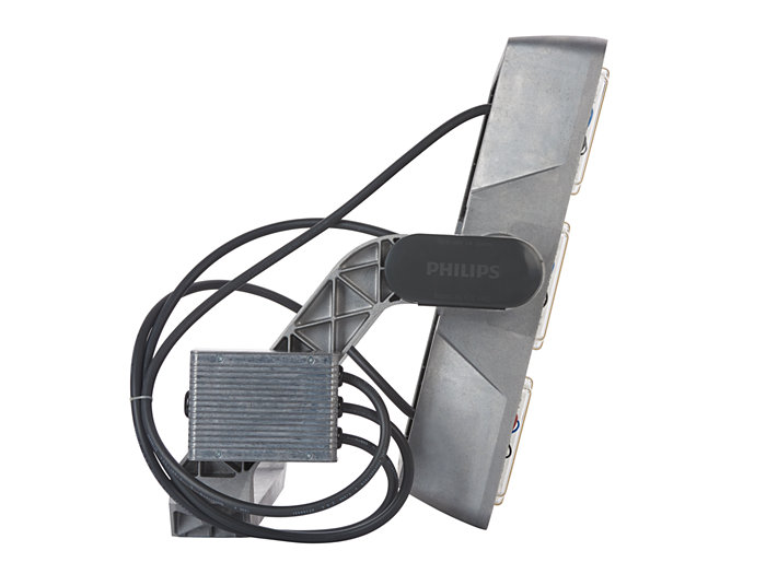 Left side view of BVP525 floodlight (BV: version with external driver box)