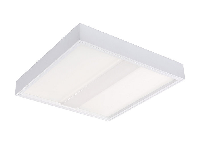 VersaForm Surface 2'x2' LED, 3000 lm, CRI 90 3500K Direct, Beam Shaping Light Guide with Stepped Diffuser