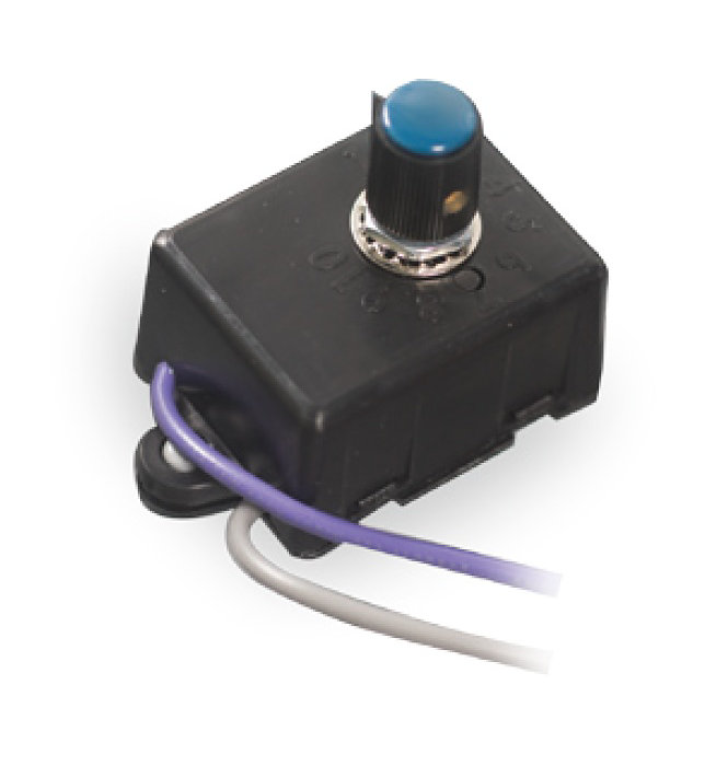 FAWS, the switch allows you to adjust the luminaires wattage and light output in the field using ten preset positions.