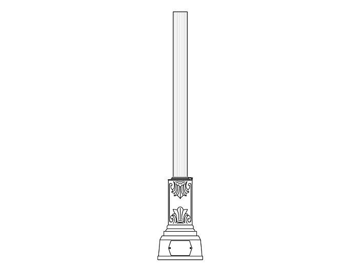 Decorative Anchor Base Post (309-)