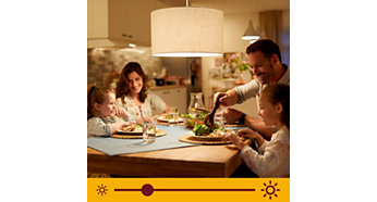 Dimmable warm white light