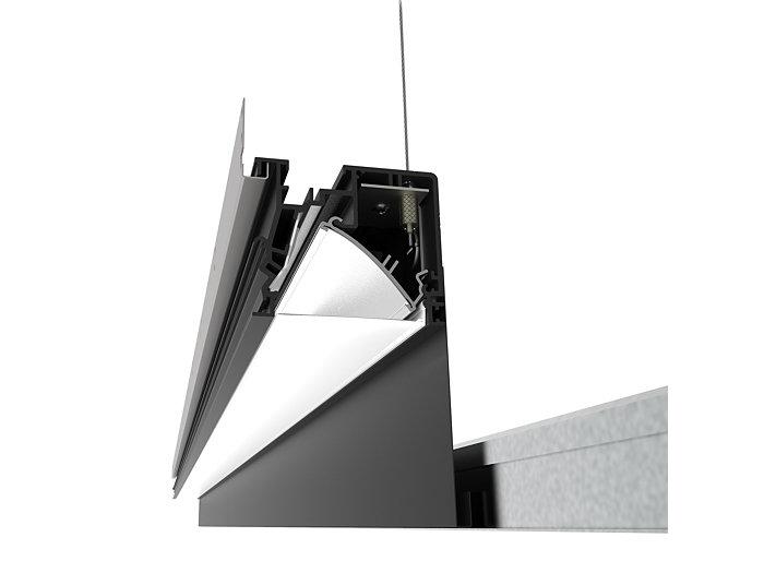 TruGroove Perimeter Graze LED, 1400 lm/4ft, 3000/3500/4000K Graze, Reverse Parabolic w/ Flush Frost Lens