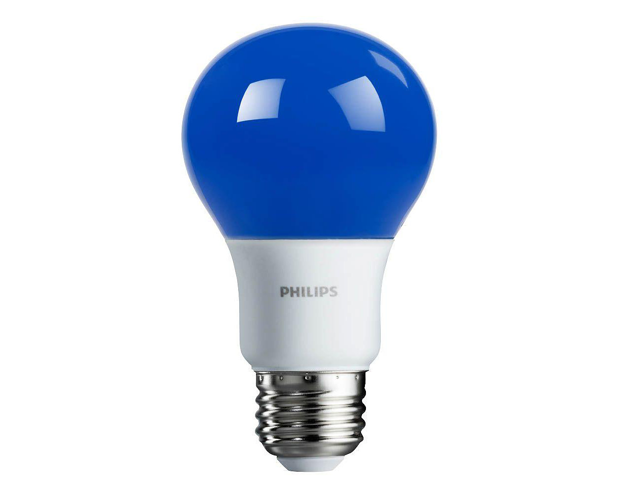 Foco LED de color con luz azul brillante