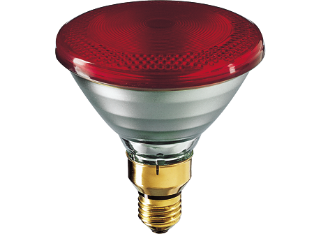 PAR38 IR 100W E27 230V Red 1CT/12