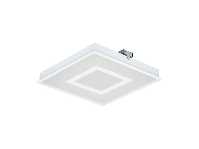 SmartBalance recessed RC480B LED luminaire with inner masking, module size 600 (visible profile ceiling version)