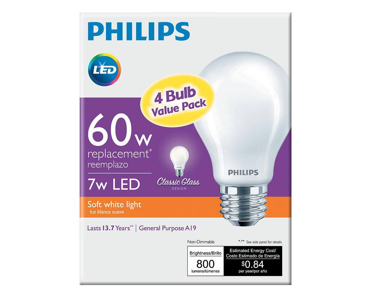 Led bulb 046677469818 philips