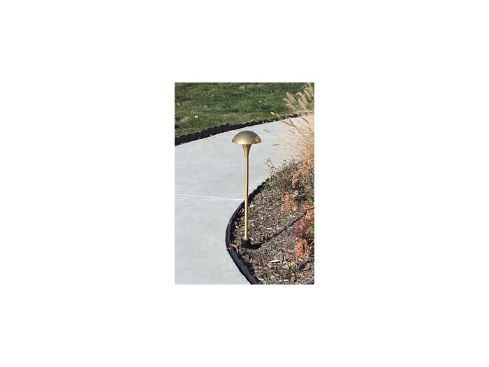 Path Light, Brass w/Stake, Natural, 2W LED, 12V