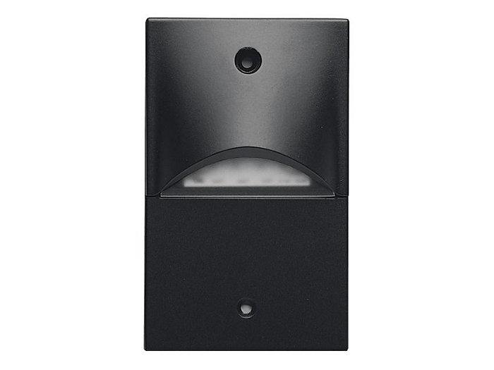 Die Cast Mini LED Step Light, Horizontal Mount, 120 VAC,  Satin Lens, Granite Finish