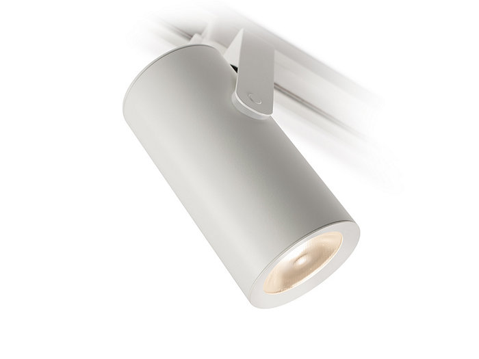 CorePro LED Mini Cylinder, 900 lm, 35° Wide Flood, 90 CRI / 3000K CCT, Matte White Finish, CrispWhite