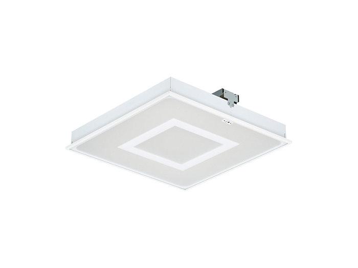 SmartBalance, quadratische LED-Einlegeleuchte mit SmartBalance-Signatur und automatischer Lichtregelung ActiLume für Deckensysteme mit sichtbaren Tragprofilen, Modul 625, RC482B VPC
