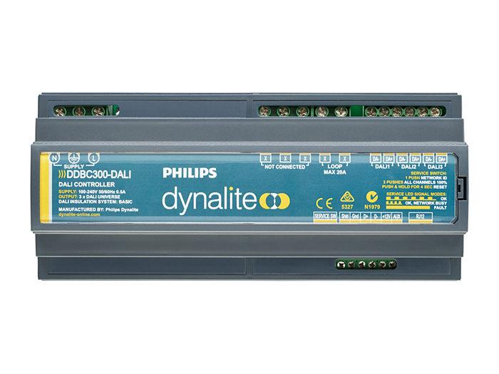 Front of the DDBC300-DALI 3 x DALI Driver Controller