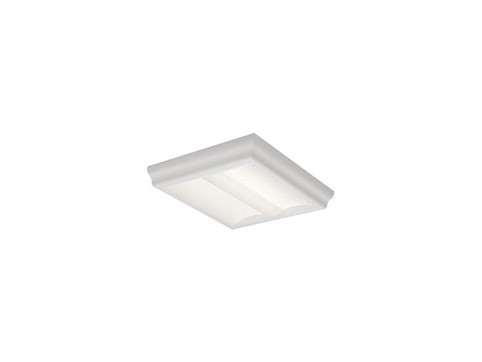 2x2, Surface, 3800 Nominal Delivered Lumens, 80 CRI, 4000K, Round Perf. w/White Overlay