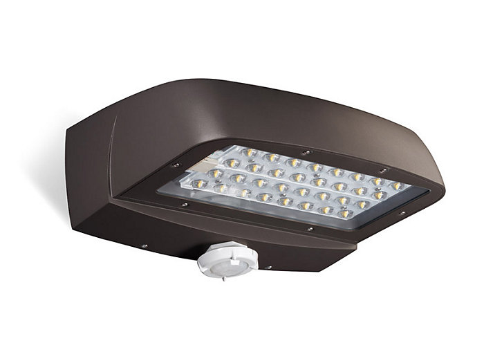 LED, 6913 lumens, 71W, 700mA, 4000K, 120-277V, Textured Bronze w/Motion Response