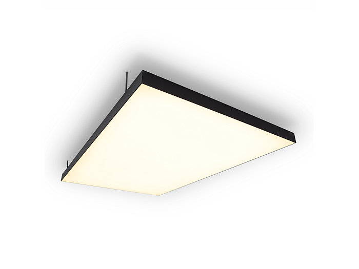 Architectural, 8 x 4 ft, 3000K, ceiling panel combining white LED light with textile