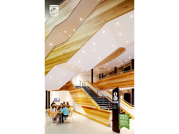 Hall room with stairs in a shopping mall