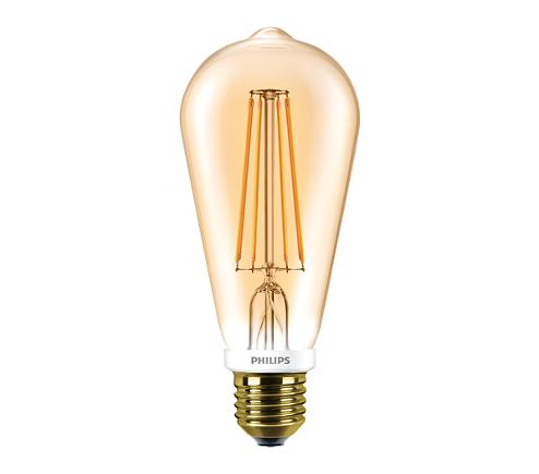 LEDClassic 50W ST64 E27 2000K GOLD D SRT