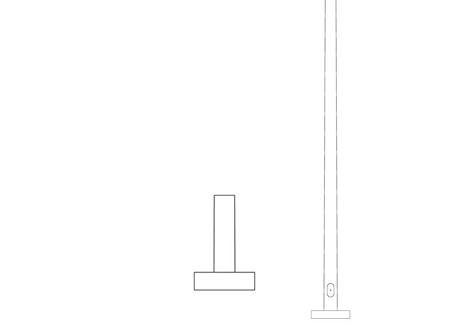 Pole (P120), Round Tapered Pole