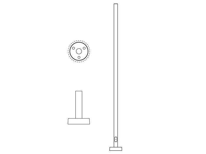 Pole (P150), Round Straight Pole