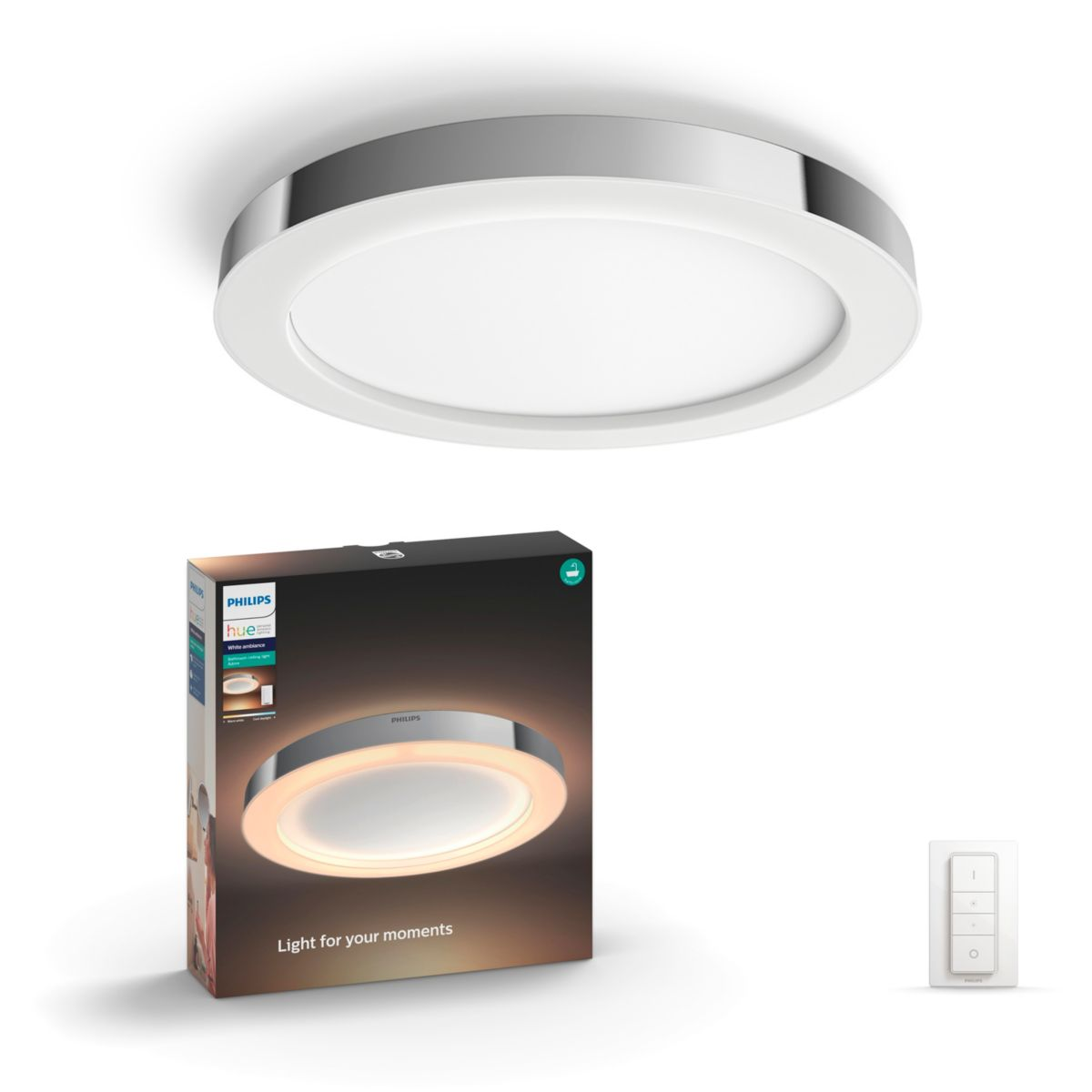 Hue white ambience adore bathroom ceiling light 3435011p7 philips