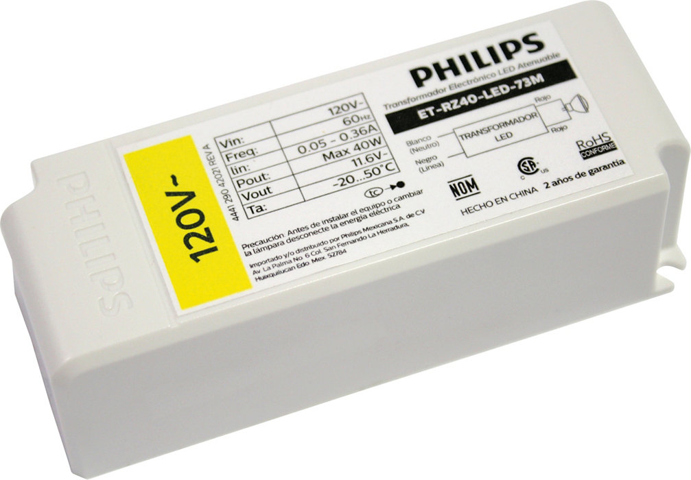 LED Driver Transformer 12W 12V. The ideal complement for LED 12V systems, up to 12W.