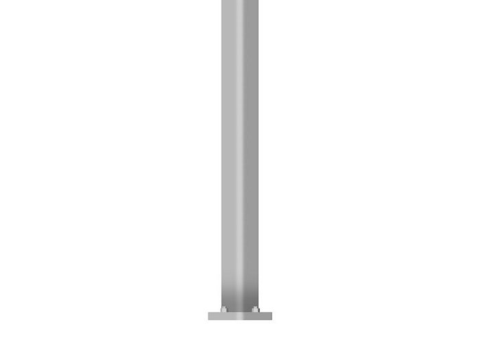 Straight Square Steel Pole