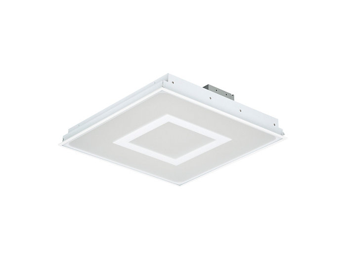 SmartBalance recessed RC482B LED luminaire with inner masking, module size 625 (visible profile ceiling version)