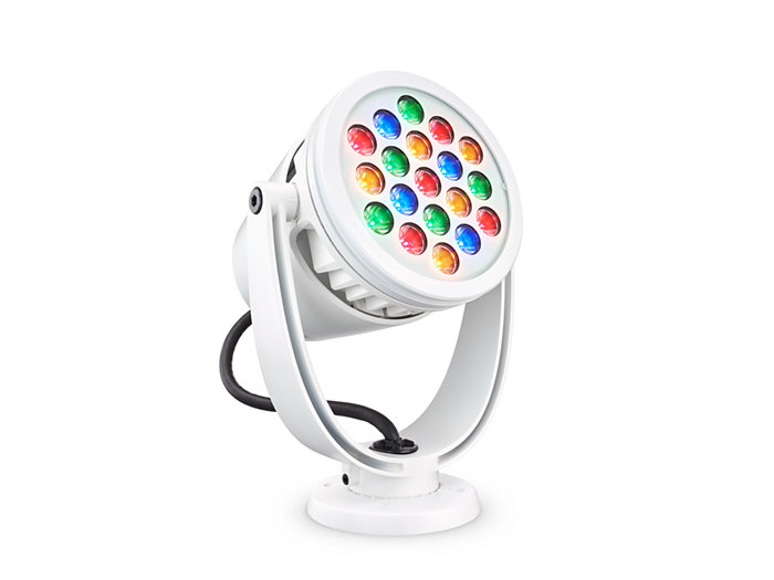 ColorBurst Powercore gen2, RGBA LED spotlight Architectural fixture