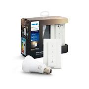 Hue White Ambiance Kit ampoule Hue E27 white ambiance et dim switch