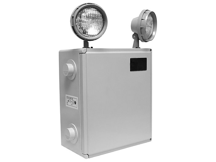 Max-Lite Series Harsh Environment Emergency Unit, Nickel Cadium, 12V 150W, 50W Halogen Flood Lamp Head