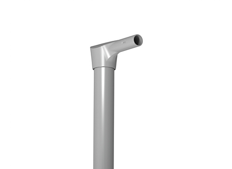 "SHORT REACH POLE TOP BRACKET FOR 2.375"" ROUND POLES"