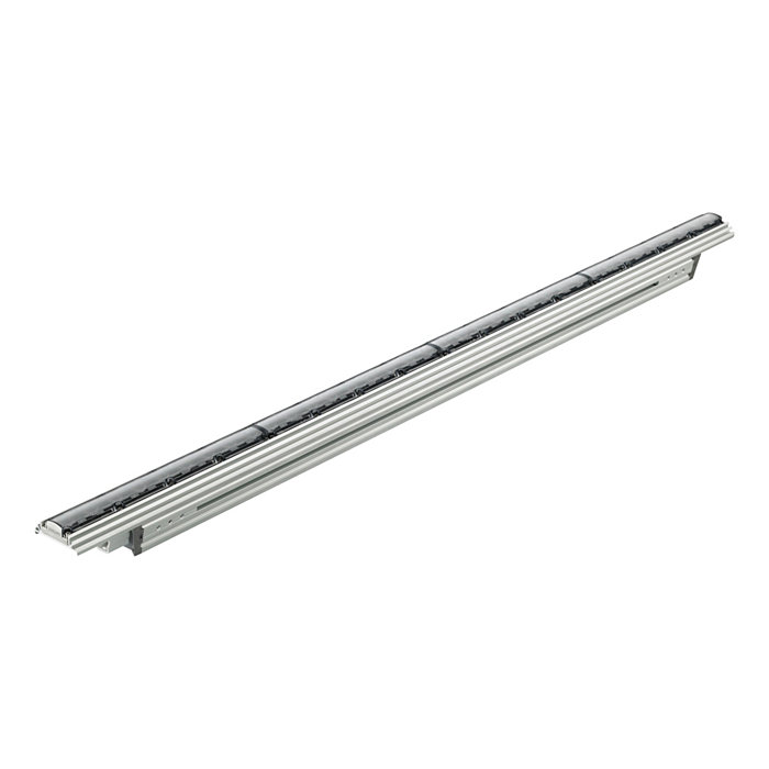 eW Graze QLX Powercore – Linear exterior LED wall grazing luminaire with solid white light