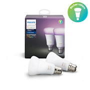 Hue White and colour ambience Dual Pack B22
