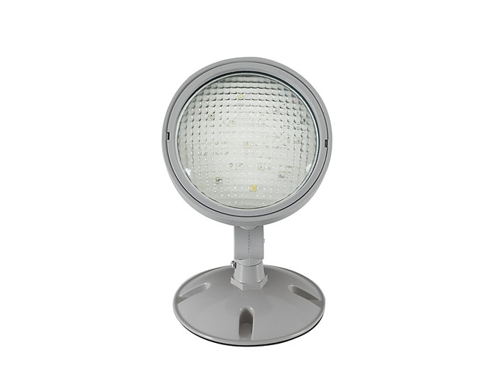 1 - 1W single remote LED Lamp Head, outdoor, grey