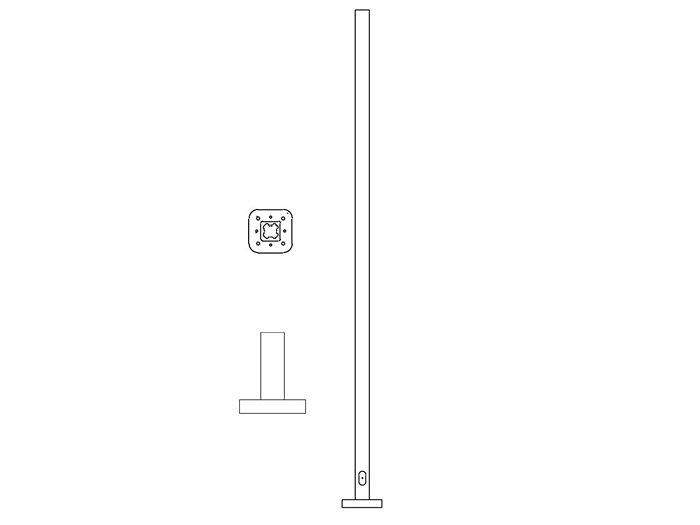 Pole (P295), Square Straight Pole
