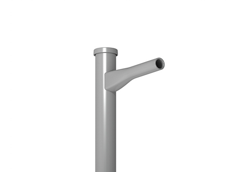 """SHORT REACH BRACKET FOR 4"""" AND LARGER SQUARE POLES"""