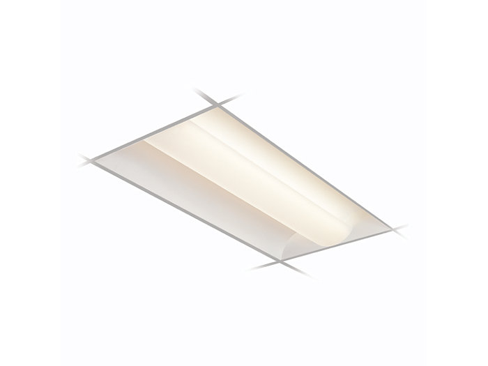 2x4, 3 Lamp F32T8, White Opal Acrylic Diffuser