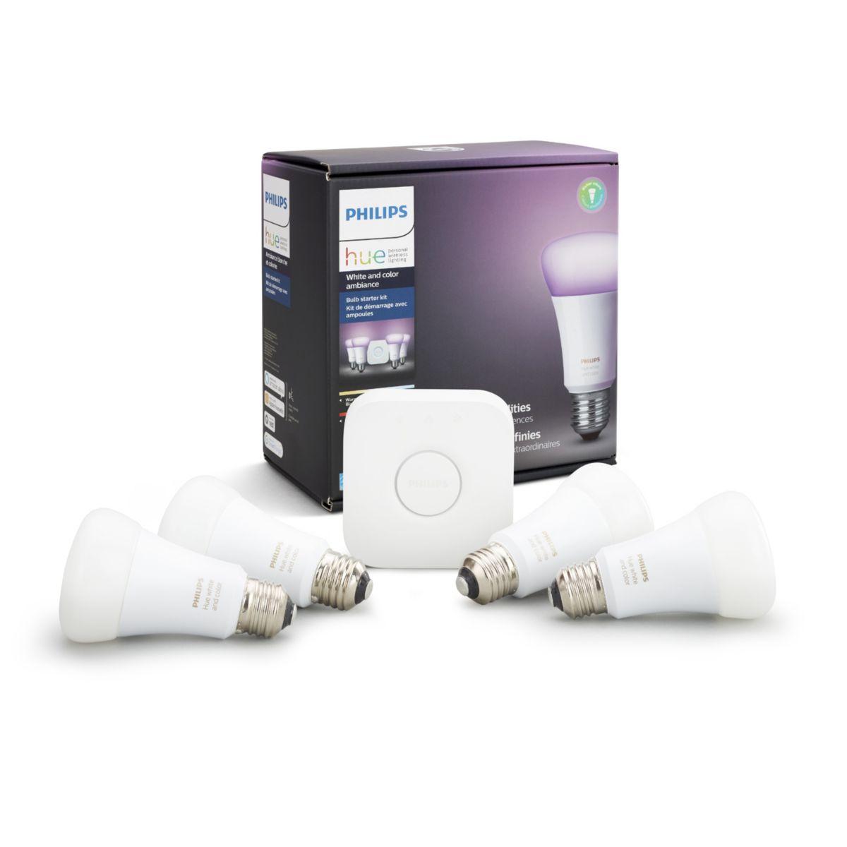 hue white and color ambiance starter kit e26 046677530228. Black Bedroom Furniture Sets. Home Design Ideas