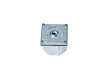 "CAST IRON JUNCTION BOX,1/2""NPT"